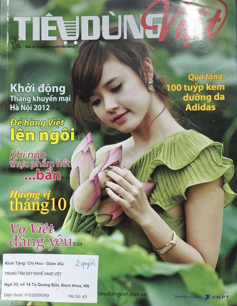 Hand Việt vinh dự có mặt trong số Chuyên Đề ra ngày 01/08/2012 của tạp chí Tiêu Dùng Việt.