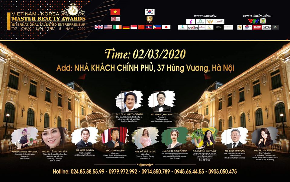 CUỘC THI TAY NGHỀ QUỐC TẾ MASTER BEAUTY AWARD VIỆT NAM - KOREA 2020
