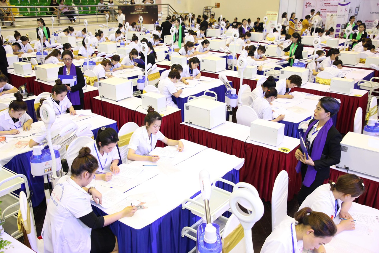 Vòng thi lý thuyết Spa tại cuộc thi Tay nghề toàn quốc